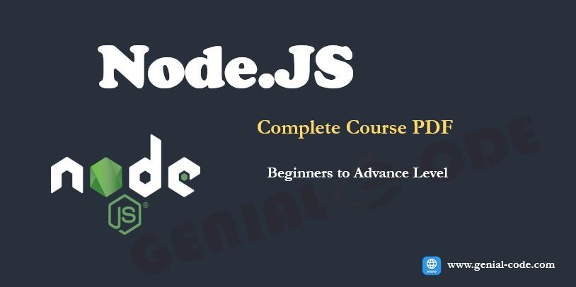Node JS Complete Course PDF   Node.js